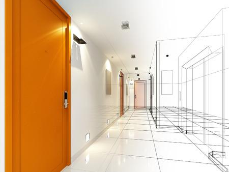 インテリア ホールのデザインをスケッチします。 写真素材