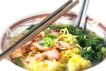 traditonal: Wonton and noodle for traditonal gourmet dumpling image