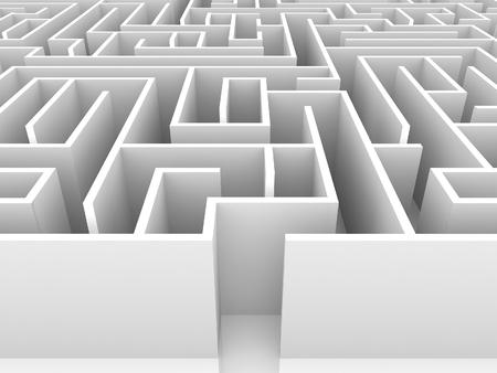 endless maze 3d illustration Stock fotó