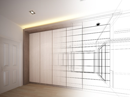 abstract sketch design of interior Stock Photo