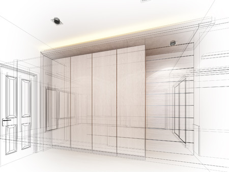 abstract sketch design of interior photo