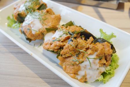 nice food: Рыба на пару с пастой карри на блюдо