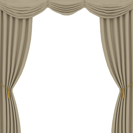 light brown: light brown curtains on white background