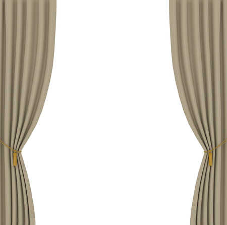 opera d 'art: light brown curtains on white background