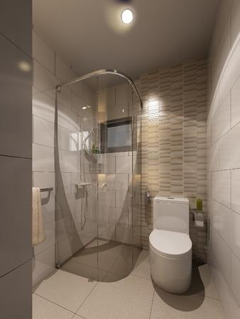 bathroom interior: 3d render of interior bathroom