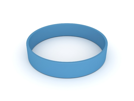 elasticity: light bue wristband