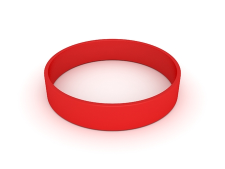elastic band: red wristband