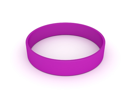 elasticity: purple wristband Stock Photo