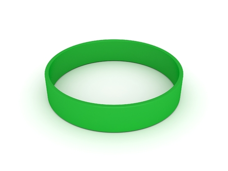 elastic band: green wristband