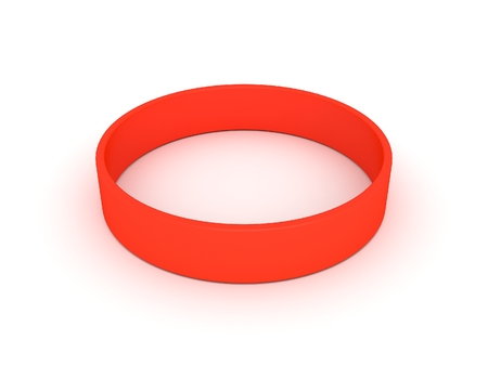 elastic band: orange wristband