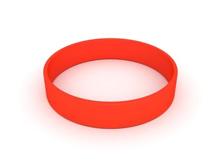 elasticidad: pulsera de color naranja Foto de archivo