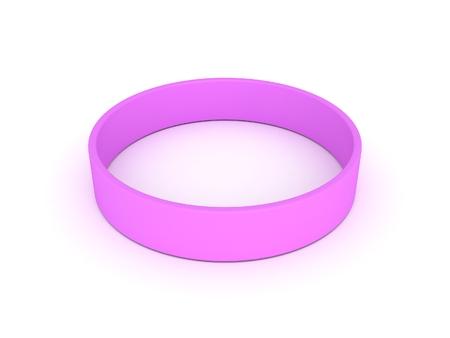 elasticity: pink wristband