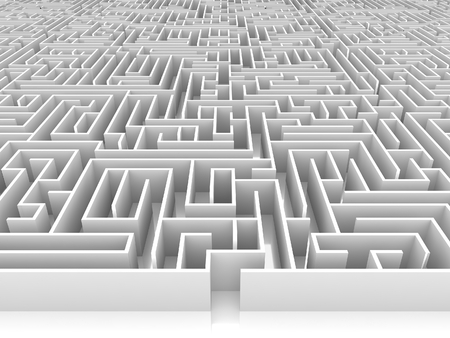 endless maze 3d illustration Stock Photo