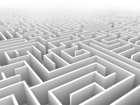 endless maze 3d illustration Stock Photo