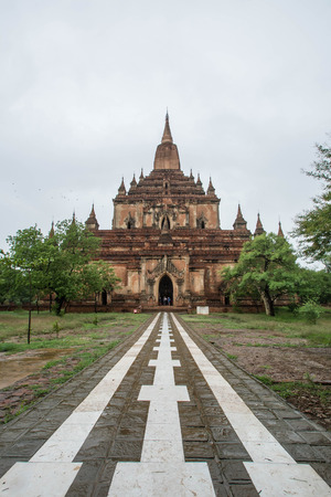 pagan: Sulamani temple Pagoda in Old Bagan Pagan, Myanmar Burma. The temple is one of the most-frequently visited in Bagan.