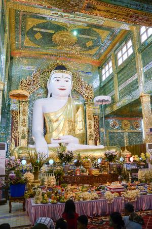 view from Soon U Pond Nya Shin Paya Pagoda,Sagaing hill , Sagaing City, The Old City of Religion and Culture Outside Mandalay, Myanmar. Editorial