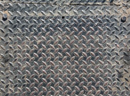diamondplate: Background of old metal diamond plate Stock Photo