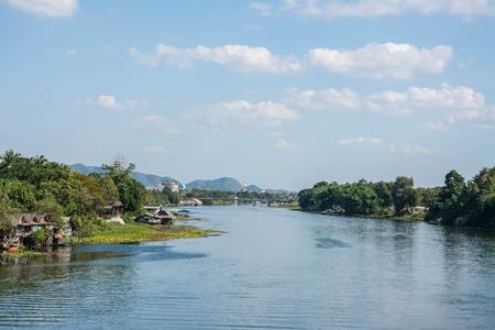 kanchanaburi: river Kwai.  Kanchanaburi of Thailand. Stock Photo