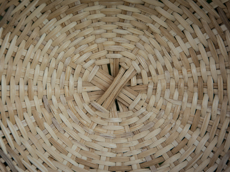 woven: Old woven wood circular pattern