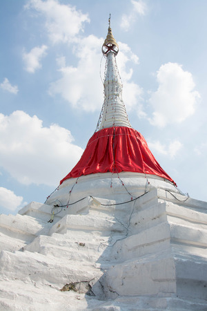 tilt: Tilt pagoda in Ko Kret ,Thailand Stock Photo