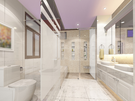 bathroom interior: 3d render of interior bathroom
