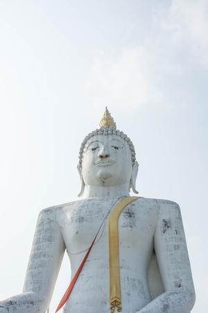 atheism: Big Buddha, WatPairogwour in Suphanburi province, Thailand. Stock Photo