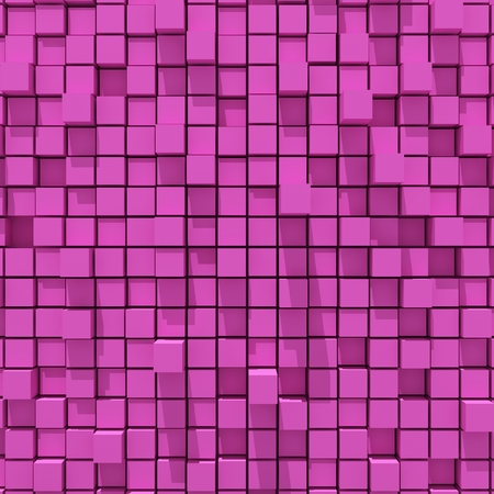 cubic: 3d rendering of pink cubic random level background.
