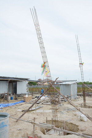 Groundbreaking ceremony for home building in Thailand