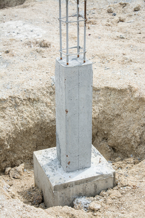 corbel: foundation post in construction site
