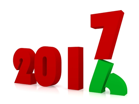 New year 2017 ,3d rendering Stock Photo