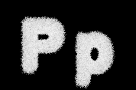 white grass letters, upper and lowercase Stock Photo