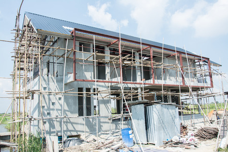 housing lot: New Residential Home under Construction