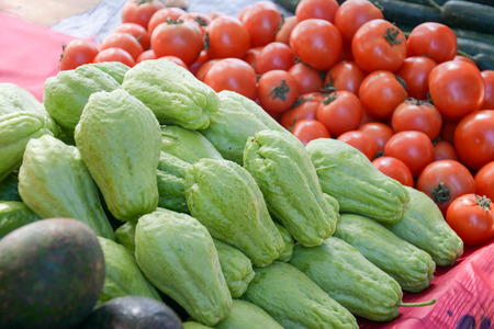 chayote fruit in the market