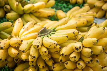 yellow bananas background Stock Photo