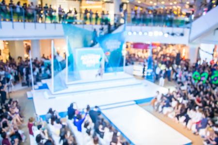 blur image  of  fashion runway out of focus