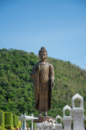 kanchanaburi: Statues of Buddha at Wat Thipsukhontharam,Kanchanaburi province,Thailand
