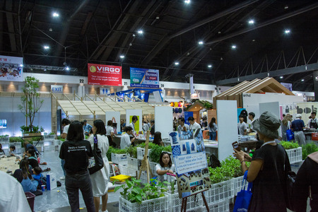 architect: NONTHABURI - MAY 6 ,2017: People  walking in Architect expo17 .It is the 31st ASEANs Largest Building and Construction Technology Exposition in Nonthaburi, Thailand.