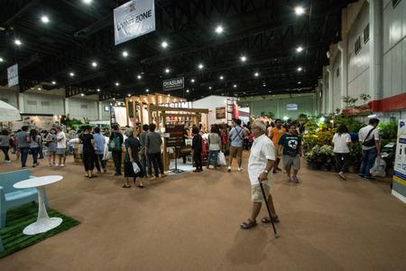 BANGKOK- JULY 22 ,2017: People  walking in Baanlaesuan  fair midyear 2017 in BITEC    (Bangkok International Trade & Exhibition Centre) Bangna, Thailand. Editoriali