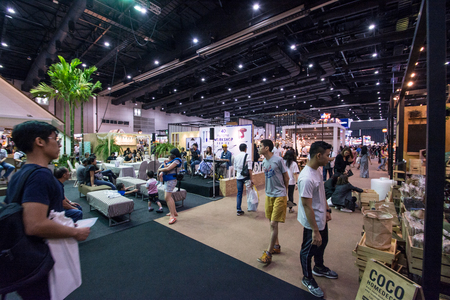 BANGKOK- JULY 22 ,2017: People  walking in Baanlaesuan  fair midyear 2017 in BITEC   (Bangkok International Trade & Exhibition Centre) Bangna, Thailand.