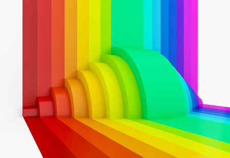 exemplar: abstract colorful rainbow perspective background,3d