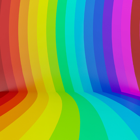 abstract colorful rainbow perspective background,3d