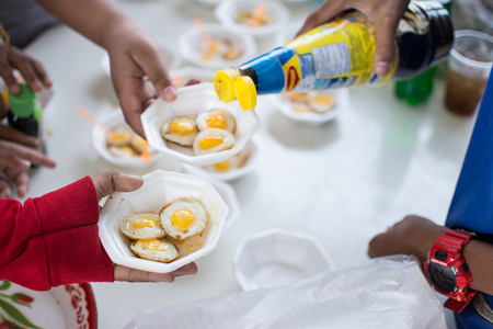Eggs for Fried and put in boiling Pan