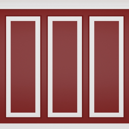 decoration classic red wall ,3d render  Archivio Fotografico