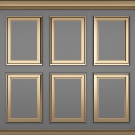 decoration classic glay wall ,3d render