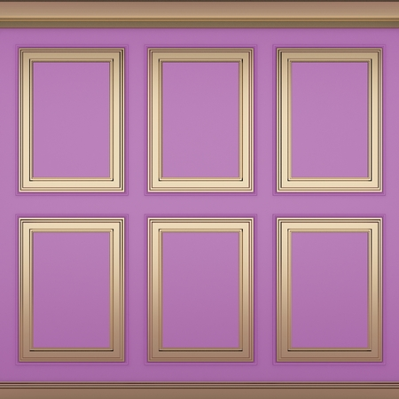 decoration classic pink wall ,3d render