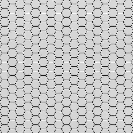 3d rendering of  hexagons background, top view Stock Photo