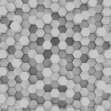 3d rendering of  hexagons background Stock Photo