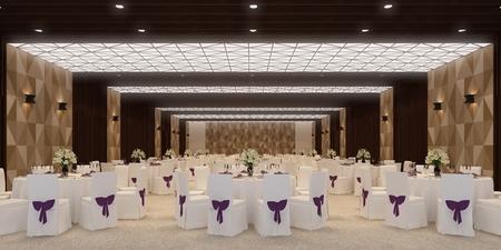 banquet hall 3d,rendering Archivio Fotografico - 101334907