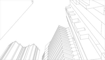 architecture building 3d - Vector Vettoriali
