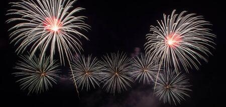 Beautiful firework display for celebration Stock Photo